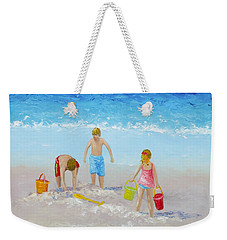 Beach Painting - Sandcastles Weekender Tote Bag