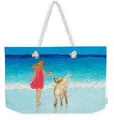 Beach Painting 'sunkissed Hair'  Weekender Tote Bag by Jan Matson