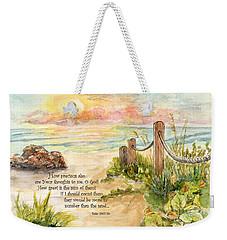 Beach Post Sunrise Psalm 139 Weekender Tote Bag