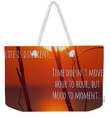 Beach Quote Weekender Tote Bag
