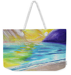 Weekender Tote Bag featuring the painting Beach Reflection by Thomas J Herring