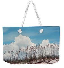 Weekender Tote Bag featuring the photograph Beach Scene In Brush Stroke by Belinda Lee