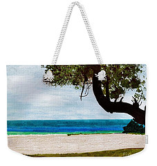 Weekender Tote Bag featuring the drawing Beach Side by D Hackett