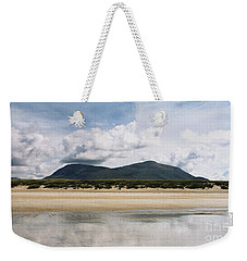 Weekender Tote Bag featuring the photograph Beach Sky And Mountains by Rebecca Harman