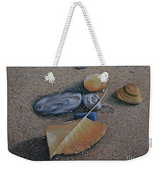 Weekender Tote Bag featuring the painting Beach Still Life IIi by Pamela Clements