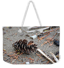 Weekender Tote Bag featuring the photograph Beach Treasures by Bianca Nadeau