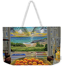 Beach View Weekender Tote Bag by Carey Chen