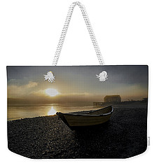 Beached Dory In Lifting Fog  Weekender Tote Bag