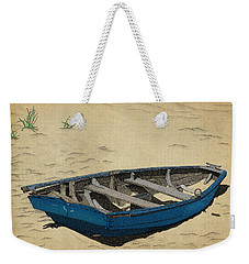 Weekender Tote Bag featuring the drawing Beached by Meg Shearer