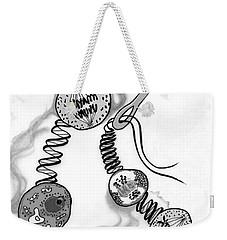 Weekender Tote Bag featuring the digital art Beads Of Life by Carol Jacobs
