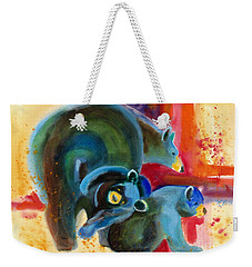 Bear Family In Red Weekender Tote Bag