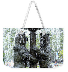 Bear Fountain Weekender Tote Bag