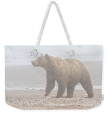 Bear In Fog Weekender Tote Bag by Chris Scroggins