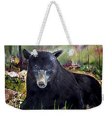 Bear Painting - Blackberry Patch - Wildlife Weekender Tote Bag