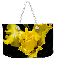 Bearded Iris Morning Dew Weekender Tote Bag