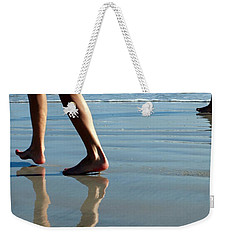 Weekender Tote Bag featuring the photograph Beat Feet by Irma BACKELANT GALLERIES