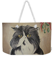 Beau With Mistletoe Weekender Tote Bag