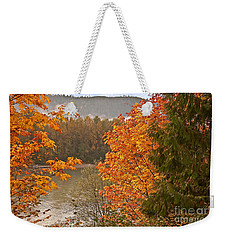 Weekender Tote Bag featuring the photograph Beautiful Autumn Gold Art Prints by Valerie Garner