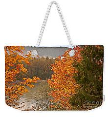 Beautiful Autumn Gold Art Prints Weekender Tote Bag by Valerie Garner