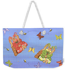 Beautiful Bunnies Weekender Tote Bag by Tracy Campbell