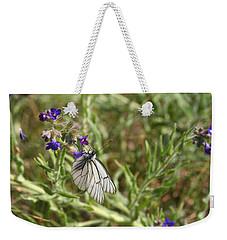 Beautiful Butterfly In Vegetation Weekender Tote Bag
