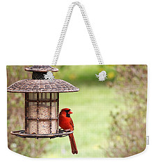 Beautiful Cardinal Weekender Tote Bag by Trina  Ansel
