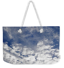 Weekender Tote Bag featuring the photograph Beautiful Cloud Contrast by Belinda Lee