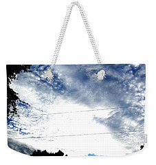 Weekender Tote Bag featuring the photograph Beautiful Cloudy Morning by Belinda Lee