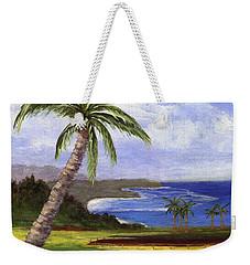 Weekender Tote Bag featuring the painting Beautiful Kauai by Jamie Frier