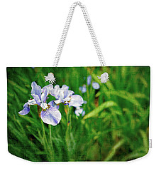 Beautiful Louisiana Hybrid Iris Weekender Tote Bag by Marianne Campolongo