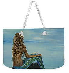 Beautiful Magic Mermaid Weekender Tote Bag by Leslie Allen