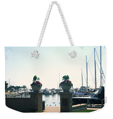 Weekender Tote Bag featuring the photograph Beautiful Marina Entrance by Kay Novy