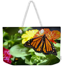 Beautiful Monarch Butterfly Weekender Tote Bag by Patrice Zinck