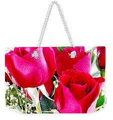 Beautiful Neon Red Roses Weekender Tote Bag