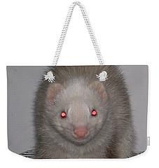 Weekender Tote Bag featuring the photograph Beautiful Panda Ferret by Belinda Lee