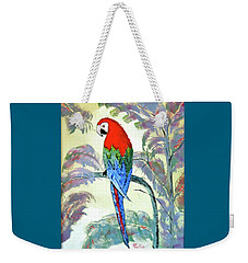 Weekender Tote Bag featuring the painting Beautiful Parrot For Someone Special by Phyllis Kaltenbach