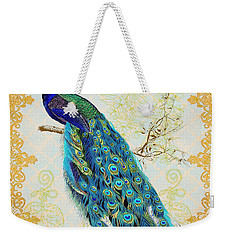 Beautiful Peacock-b Weekender Tote Bag by Jean Plout
