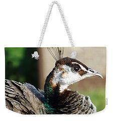 Beautiful Peahen Weekender Tote Bag