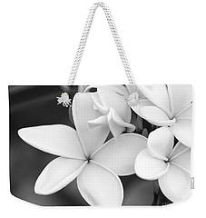 Beautiful Plumeria In Black And White Weekender Tote Bag