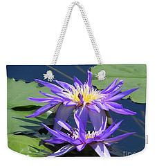 Beautiful Purple Lilies Weekender Tote Bag by Chrisann Ellis