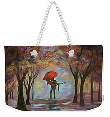 Beautiful Romance Weekender Tote Bag by Leslie Allen