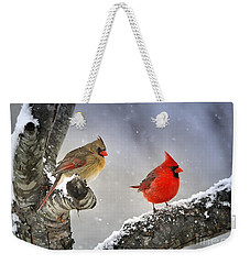 Weekender Tote Bag featuring the photograph Beautiful Together by Nava Thompson