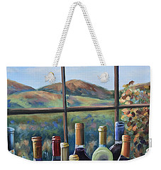 Weekender Tote Bag featuring the painting Beautiful View by Donna Tuten