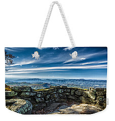 Beautiful View Of Mountains And Sky Weekender Tote Bag