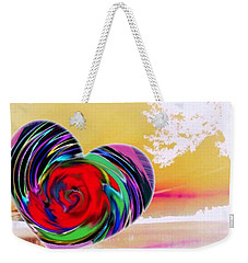 Weekender Tote Bag featuring the digital art Beautiful Views Exist by Catherine Lott