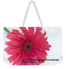 Beauty And Simplicity Weekender Tote Bag by Patrice Zinck