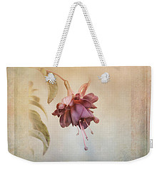 Beauty Fades Softly Framed Weekender Tote Bag by Susan Capuano