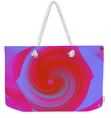 Weekender Tote Bag featuring the digital art Beauty Marks by Catherine Lott