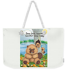 Beaver Weekender Tote Bag by Jerry Ruffin
