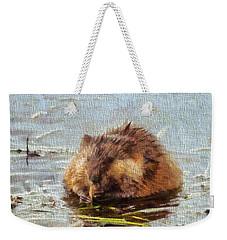 Beaver Portrait On Canvas Weekender Tote Bag by Dan Sproul